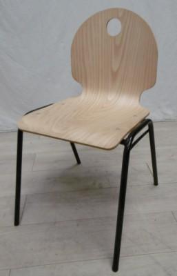 chaise 4 pieds coque bois. Black Bedroom Furniture Sets. Home Design Ideas