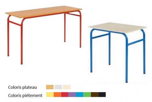 TABLE SCOLAIRE GAMME ARTHUS 70x50 ou 130x50