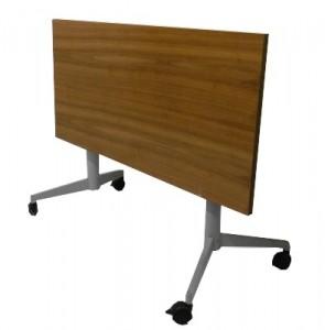 TABLE A PLATEAU RABATTABLE ET PIETEMENT PLIABLE