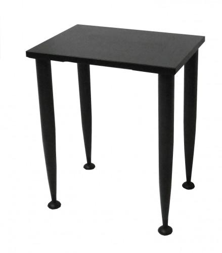 TABLE DESSERTE NOIRE 60X43