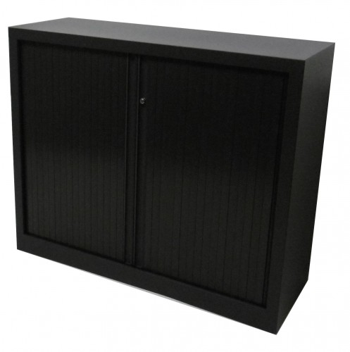 ARMOIRE BASSE A RIDEAU ANTHRACITE 120x100