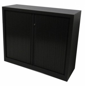 ARMOIRE BASSE A RIDEAU ANTHRACITE
