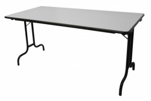 TABLE PLIANTE PLATEAU GRIS 160X80