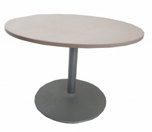 TABLE RONDE ÉRABLE GRIS ALU DIAMÈTRE 110 H.74 cm