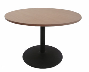 TABLE RONDE HÊTRE GRIS ANTHRACITE DIAMÈTRE 110