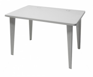 TABLE INFORMATIQUE BLANCHE 120X80