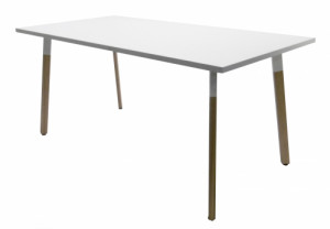 TABLE PLATEAU BLANC 160X80