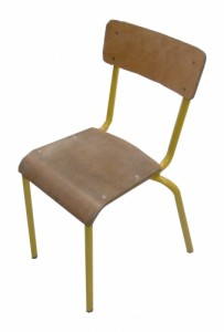 CHAISE SCOLAIRE JAUNE TAILLE 4