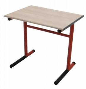 TABLE SCOLAIRE ROUGE ET NOIR TAILLE 4 70X80