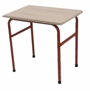 TABLE SCOLAIRE ROUGE TAILLE 4 70X50