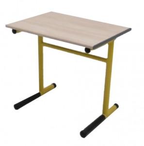 TABLE SCOLAIRE JAUNE ET NOIR TAILLE 4 70X50