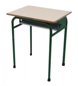TABLE SCOLAIRE VERTE AVEC CASIER TAILLE 6 64X50