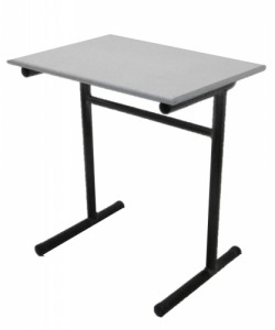 TABLE SCOLAIRE GRISE TAILLE 6 70X50
