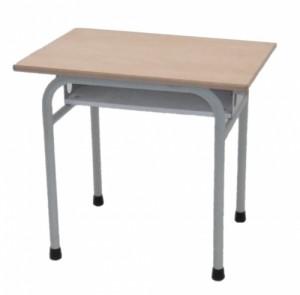 TABLE SCOLAIRE GRISE AVEC CASIER TAILLE 4 70X50
