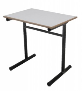 TABLE SCOLAIRE GRISE TAILLE 5 70X50