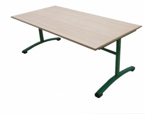 TABLE MATERNELLE VERTE 160X80