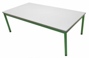 TABLE MATERNELLE VERTE HAUTEUR 52 CM 160X80