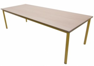 TABLE MATERNELLE JAUNE TAILLE 3 200X80