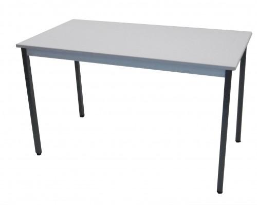 TABLE GRIS CLAIR 4 PIEDS 120X60