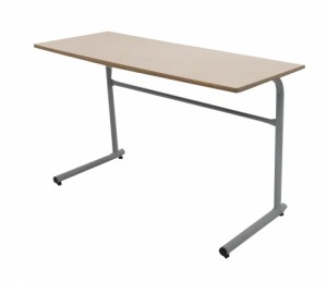 TABLE SCOLAIRE BEIGE SAUMONÉ H75