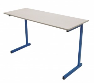 TABLE SCOLAIRE BLEUE 129X49