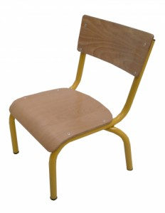CHAISE SCOLAIRE JAUNE TAILLE 1