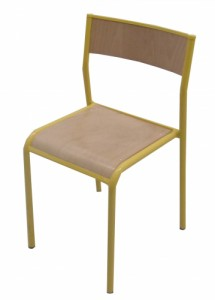 CHAISE SCOLAIRE JAUNE TAILLE 6