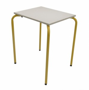 TABLE SCOLAIRE JAUNE EMPILABLE 60X50