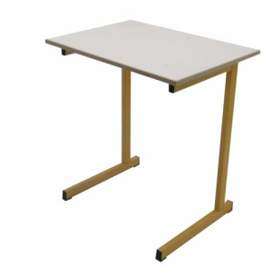 TABLE SCOLAIRE JAUNE TAILLE 6 70X50