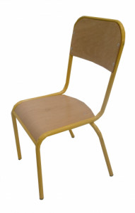 CHAISE SCOLAIRE JAUNE TAILLE 3