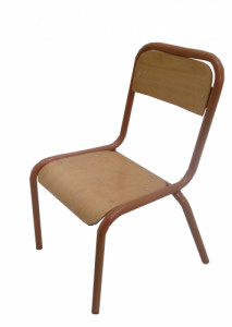 CHAISE SCOLAIRE MARRON TAILLE 2