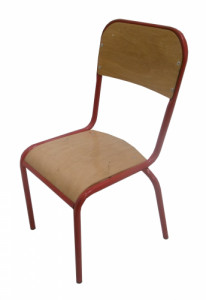 CHAISE SCOLAIRE ROUGE TAILLE 3