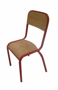 CHAISE SCOLAIRE ROUGE TAILLE 2