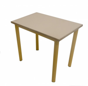 TABLE COQUILLE D'ŒUF JAUNE 60x40