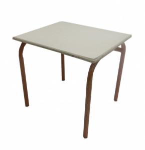 TABLE CRÈME MARRON 60x50