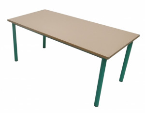 TABLE MATERNELLE COQUILLE D'ŒUF VERT 120X60