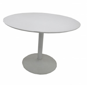 TABLE RONDE BLANCHE DIAMÈTRE 110