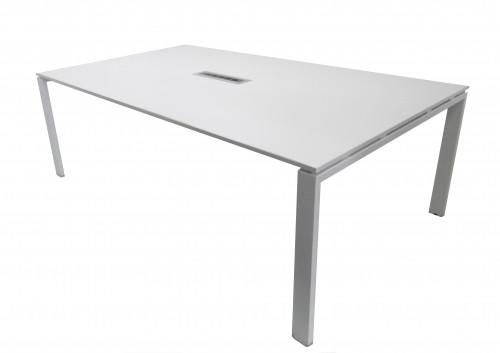 TABLE INFORMATIQUE BLANCHE 4 POSTES 210X124