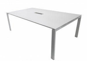 TABLE INFORMATIQUE BLANCHE 4 POSTES 210X124