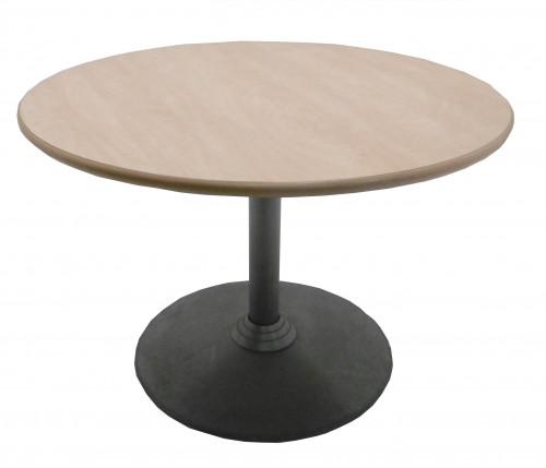TABLE RONDE POIRIER / GRISE DIAMÈTRE 100