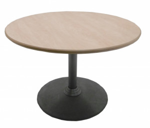 TABLE RONDE AULNE / GRISE DIAMÈTRE 100 H.69 cm