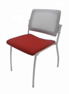 CHAISE 4 PIEDS ROUGE ET BLANCHE