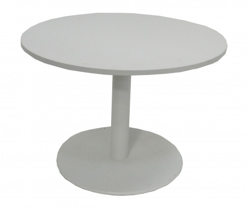 TABLE RONDE BLANCHE DIAMÈTRE 100 - H.72 cm