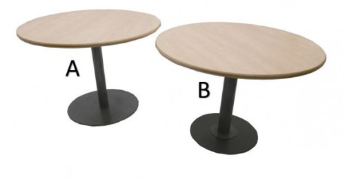TABLE RONDE AULNE / GRIS DIAMÈTRE 100