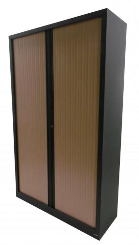 ARMOIRE RIDEAUX GRIS ANTHRACITE/ HÊTRE 120X198