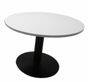 TABLE RONDE BLANCHE / NOIRE DIAMÈTRE 100 - HAUTEUR 72 CM