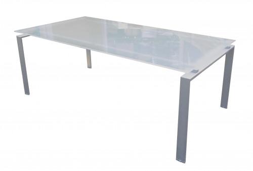 TABLE DE RÉUNION EN VERRE 200X100
