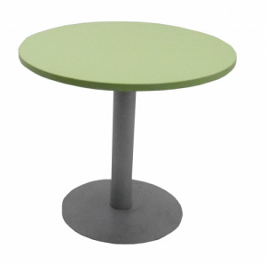 TABLE RONDE VERT ANIS / GRIS - DIAMÈTRE 80 H.70 cm