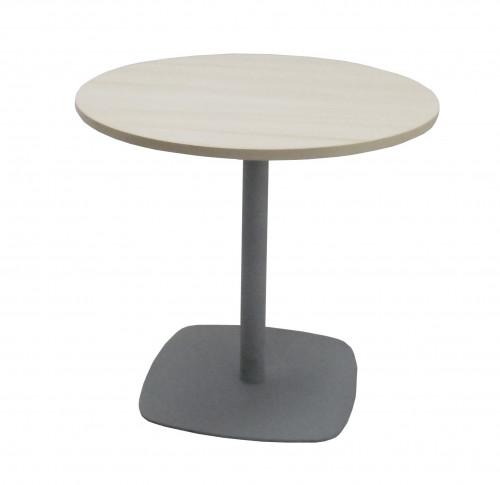 TABLE RONDE ÉRABLE / GRIS - DIAMÈTRE 80