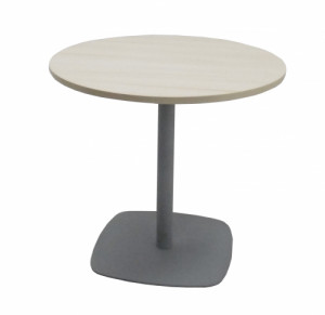 TABLE RONDE ÉRABLE / GRIS - DIAMÈTRE 80